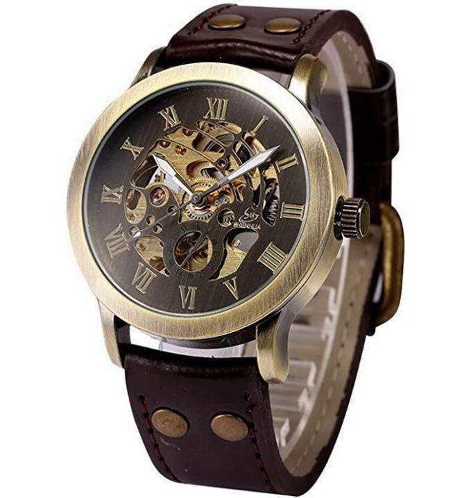 Automatic Mechanical Self-Winding steampunk Wrist Watch