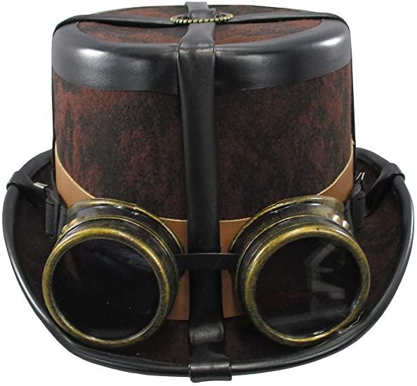 Classic brown steampunk hat