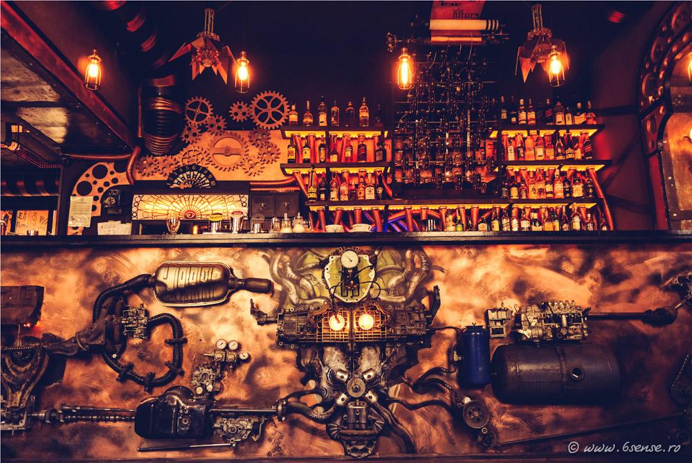 Enigma steampunk bar design
