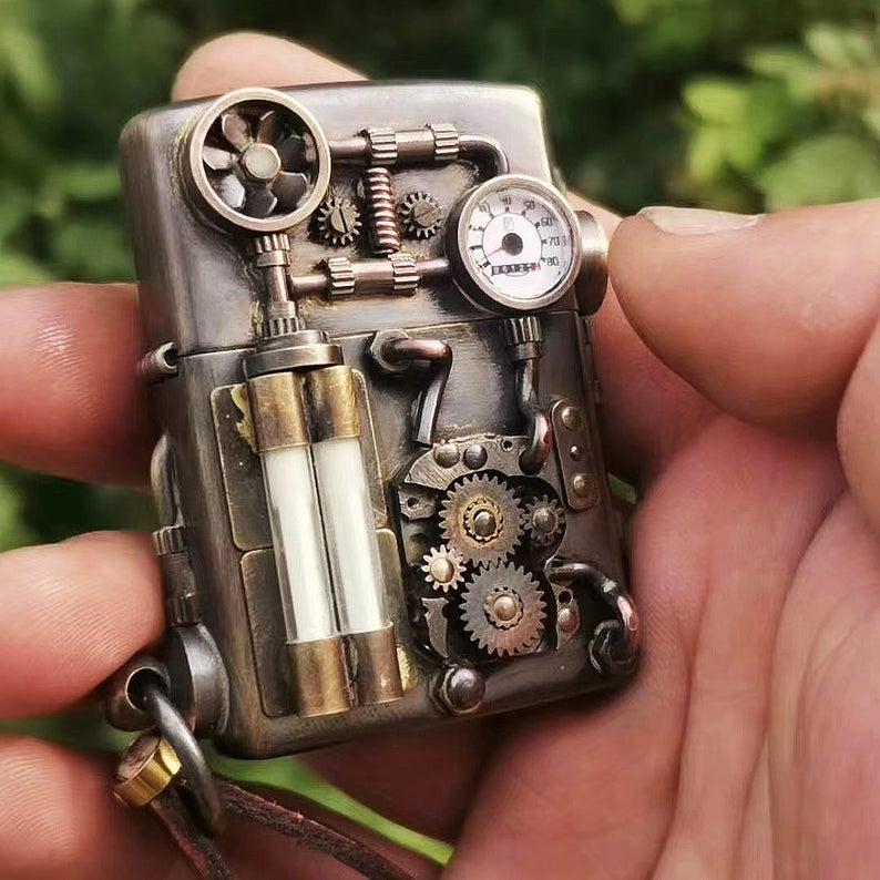 Handmade steampunk zippo lighter