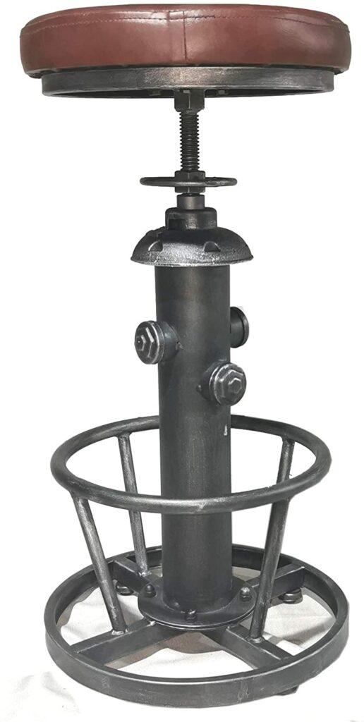 Industrial steampunk bar stool