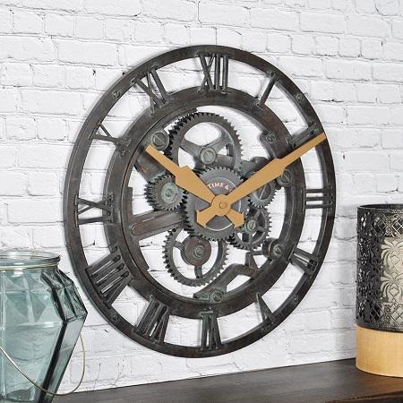 Metallic Victorian skeleton clock