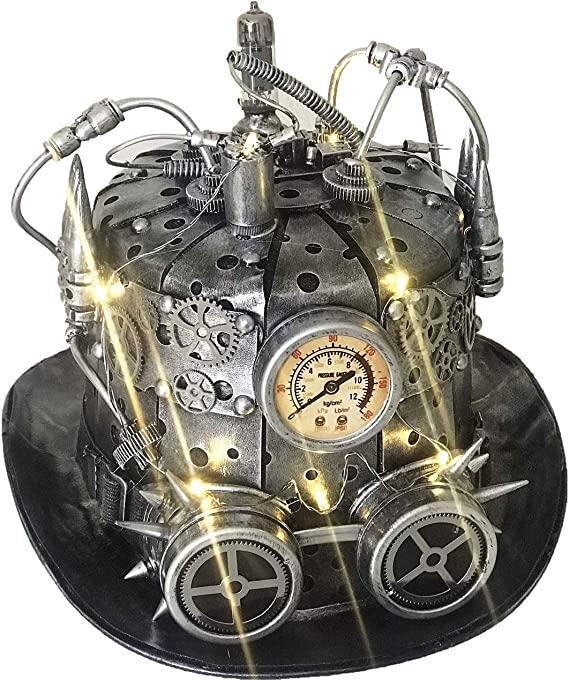 Metallic steampunk time traveler hat