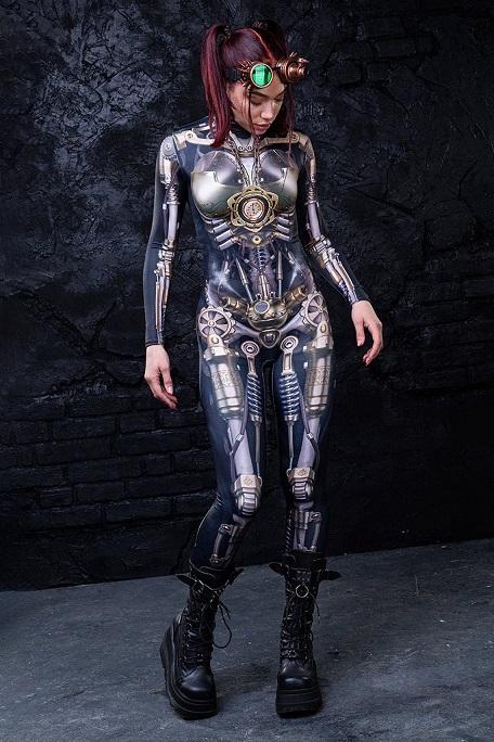 Modern steampunk bodysuit