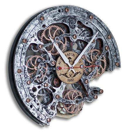 Rustic skeleton wall clock