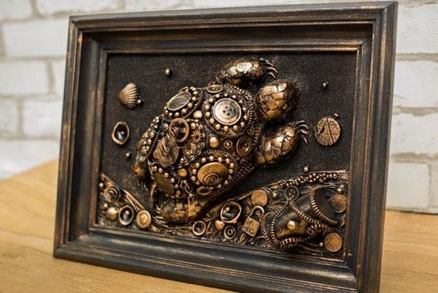 Sea Turtle steampunk 3D wall art