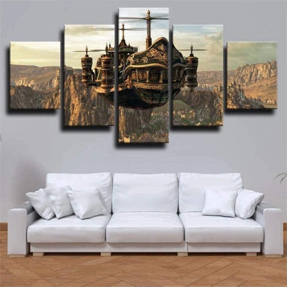 Steampunk Blimp canvas wall art