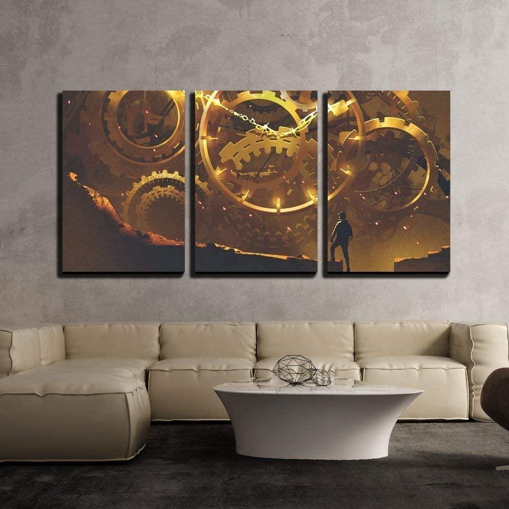 Steampunk Gears canvas wall art