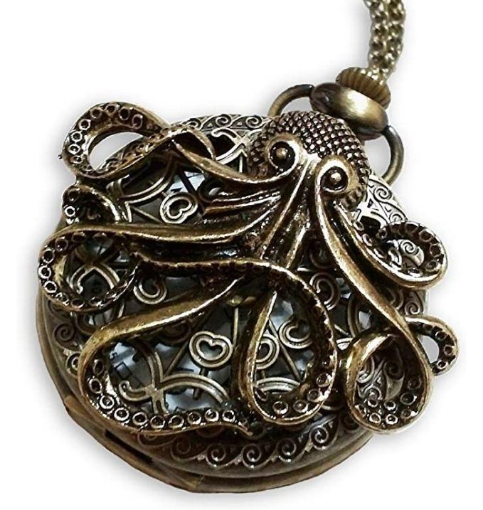 Steampunk Octopus pocket watch