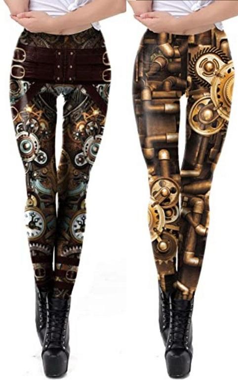 Steampunk Retro Leggings