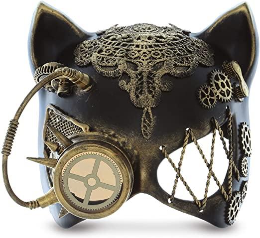 Steampunk Robo-Cat mask