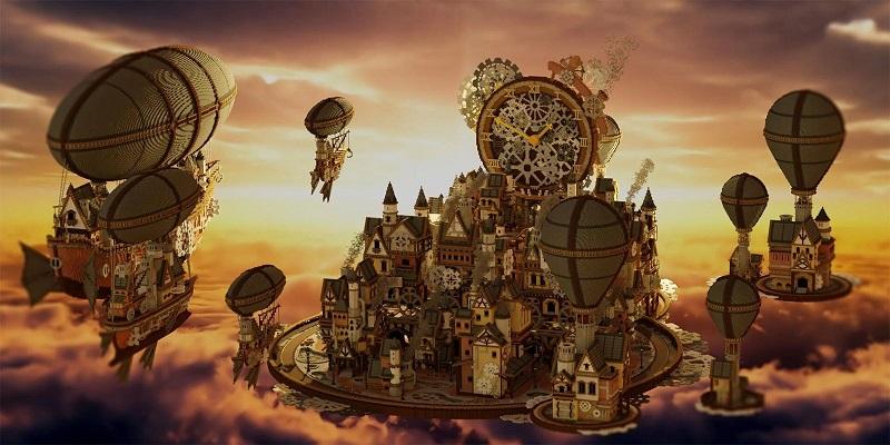 Steampunk Style Minecraft city