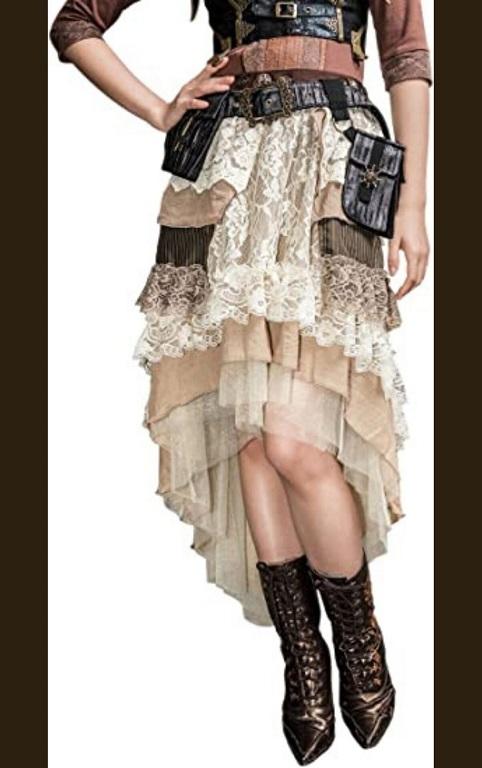 Steampunk Victorian long skirt