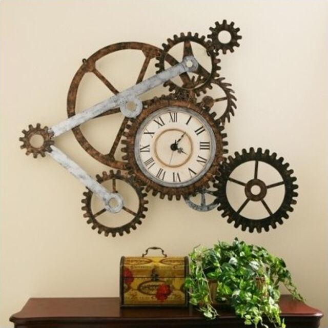 Steampunk décor Wall clock