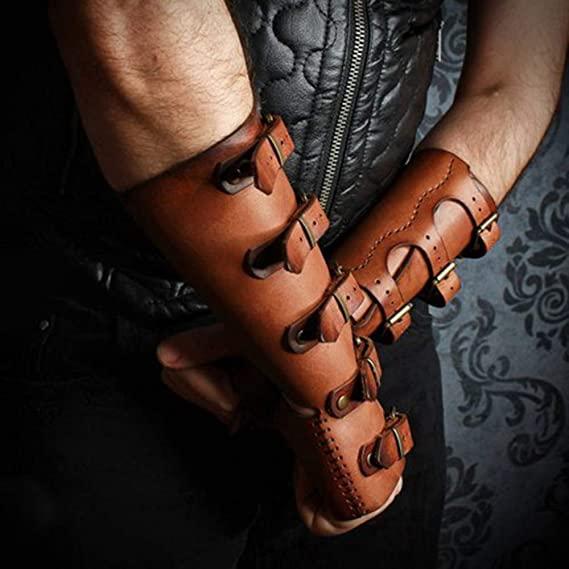 Steampunk gauntlet wrist cuffs