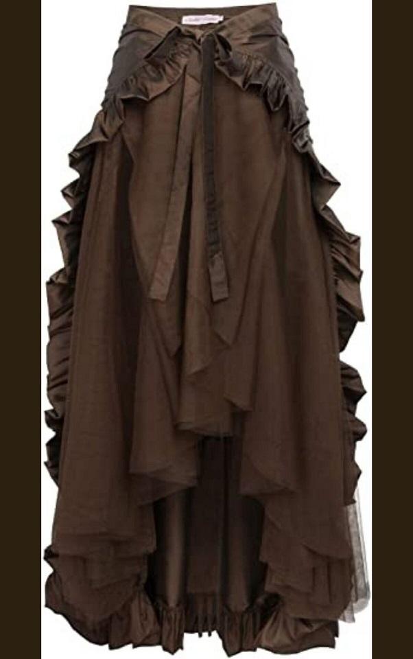 Steampunk pirate wrap skirt