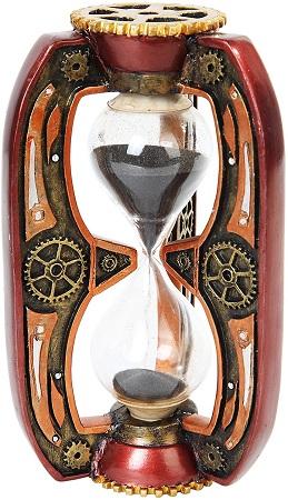 Steampunk sand timer hour glass