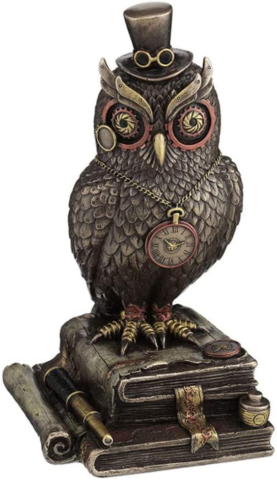 Steampunk top hat owl sculpture