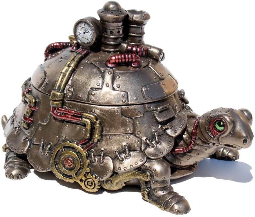 Steampunk turtle trinket box
