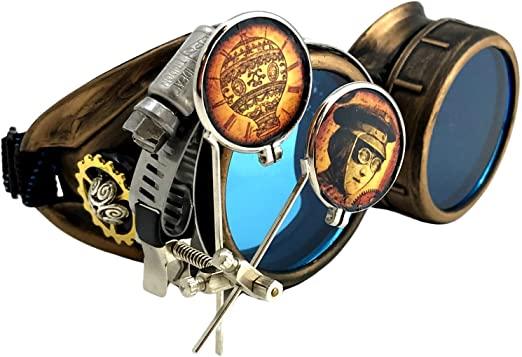 Steampunk vintage aviators
