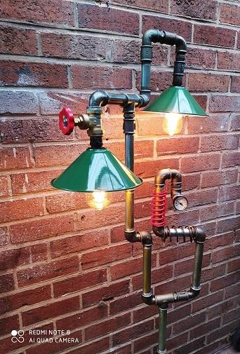 Steampunk vintage floor lamps