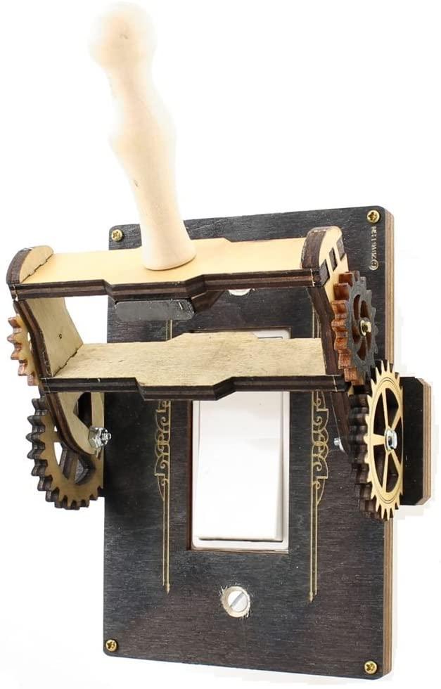 Steampunk wooden throw switch