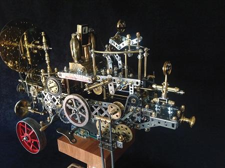 Steampunk Kinetic art The time machine by David Bowman