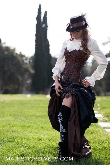 Three piece Victorian steampunk costume