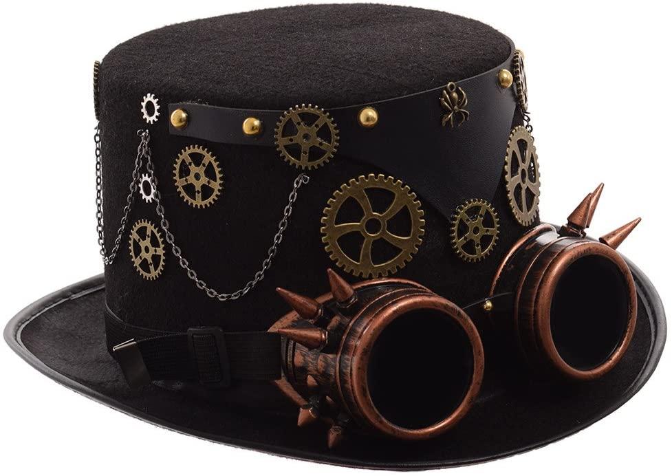 Unisex steampunk top hat