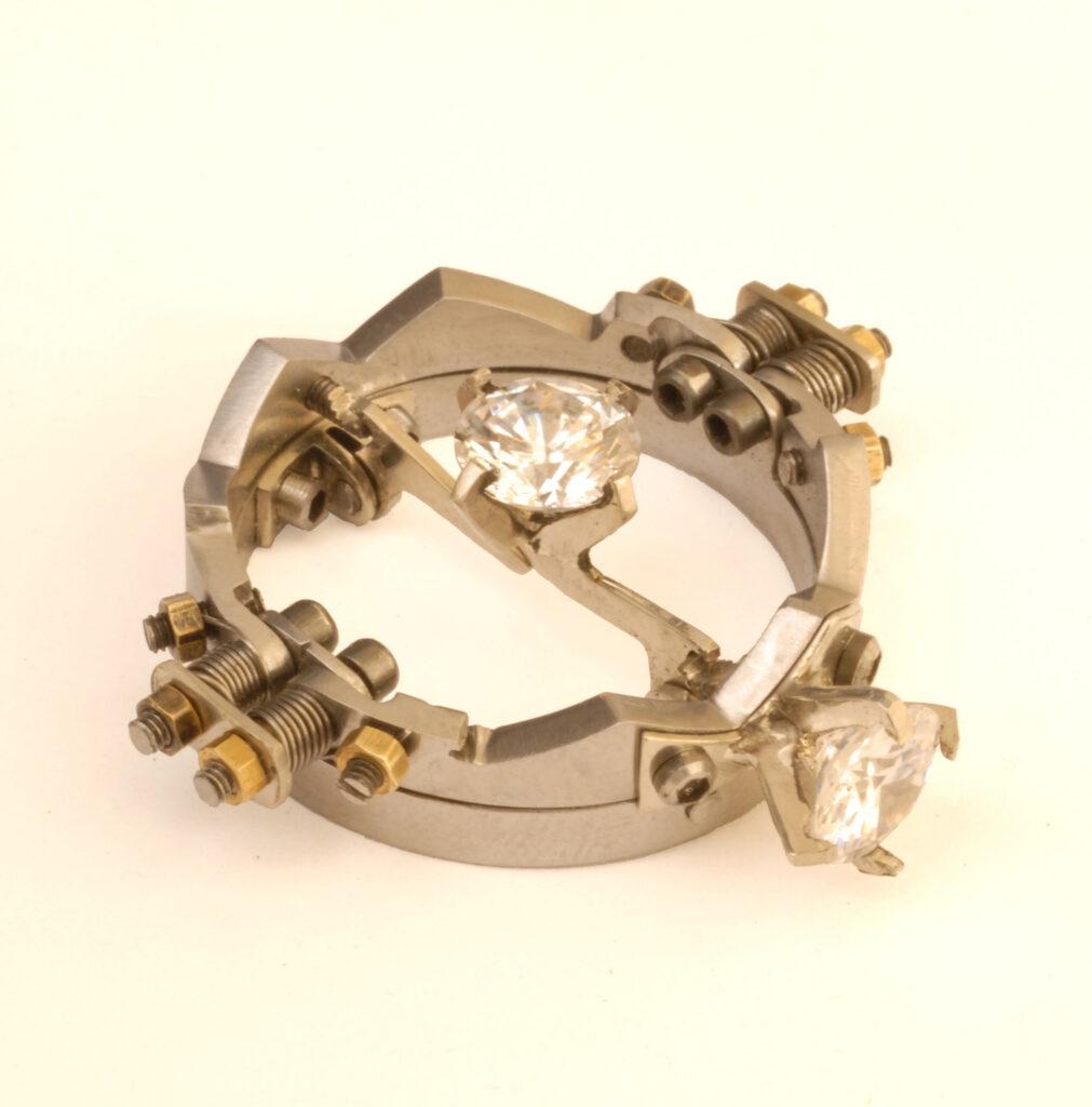 Steampunk Kinetic art Wedding Ring by Kenneth MacBain