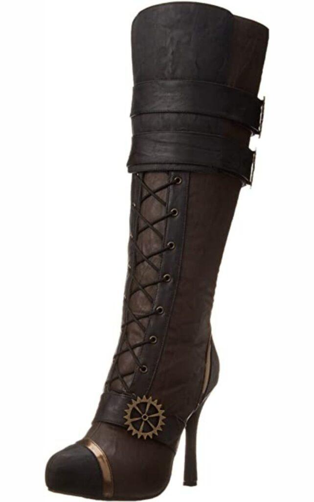 Women's knee high steampunk boots