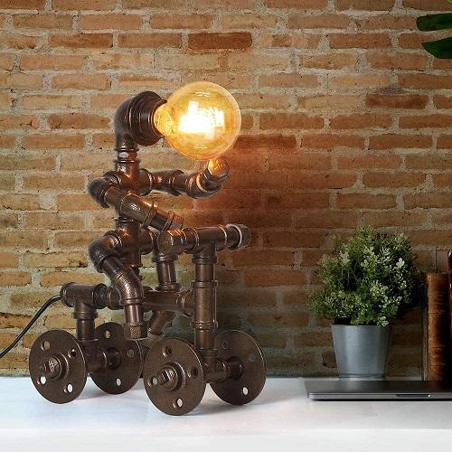 Bike Riding Steampunk Table lamp