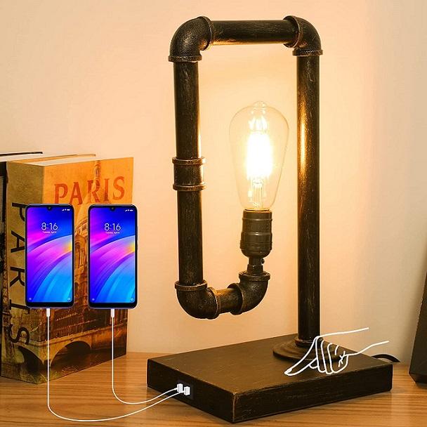 Minimalist Steampunk table lamp