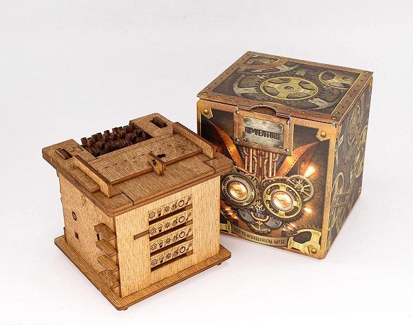 Schrödingers Cat steampunk puzzle box