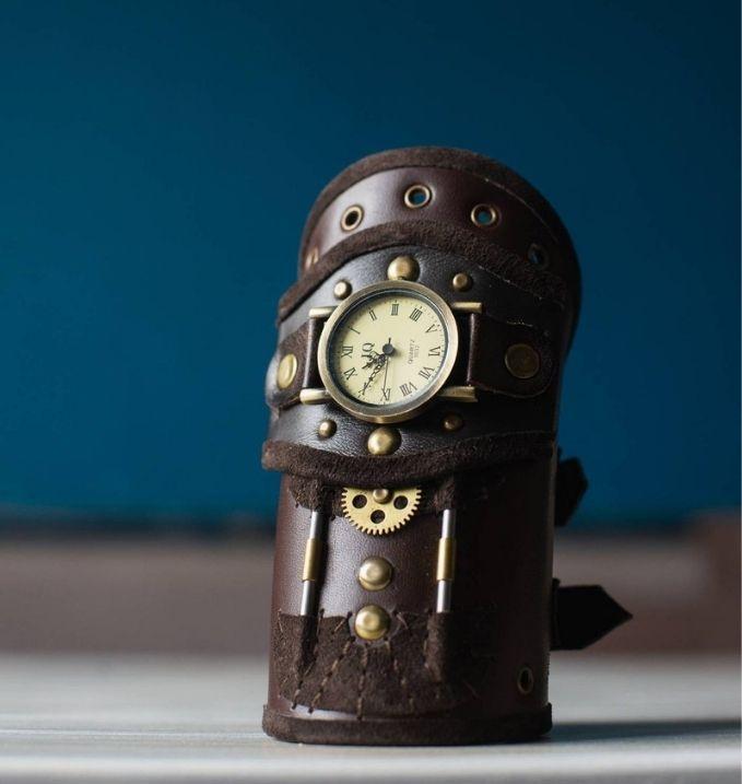 Steampunk Brown Bracelet Wrist Watch