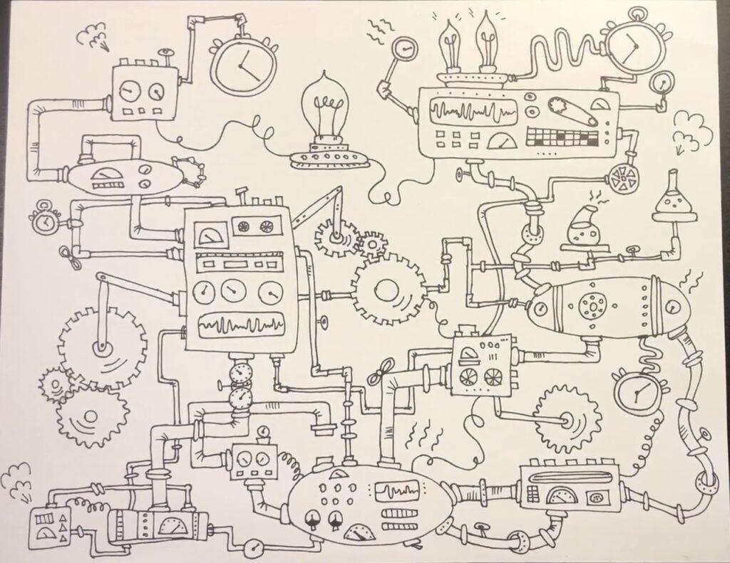 Steampunk machine final design