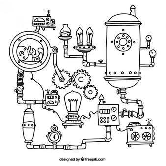 simple steampunk machine