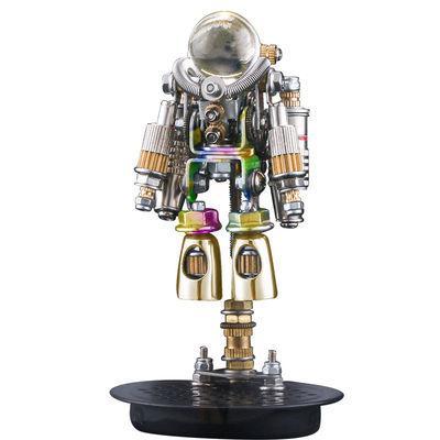 Steampunk Robots Moon astronaut